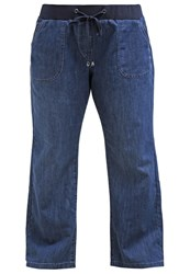 Evans Slouch Relaxed Fit Jeans Midwash Blue Denim