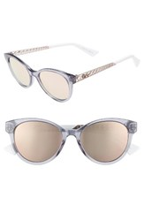 Christian Dior Women's Diorama Mini 52Mm Mirrored Lens Special Fit Sunglasses Pink Blue Pink Blue