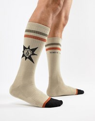 Volcom Abandoned Playground Socks In Feather Ground Grey