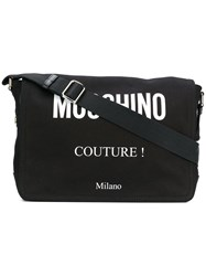 Moschino Logo Messenger Bag Black