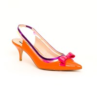 Lucy Choi London Clancy Neon Orange Yellow Orange