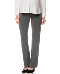 Motherhood Maternity Straight Leg Dress Pants Grey