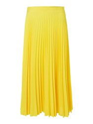 Linea Pleated Midi Skirt Yellow