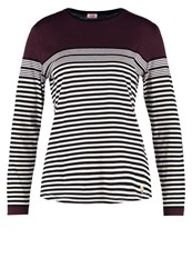 Armor Lux Mariniere Long Sleeved Top Burgungy Navy Bordeaux