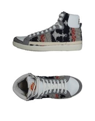 Pdo Gold High Top Sneakers Light Grey