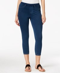 Styleandco. Style And Co. Medium Wash Knit Denim Capri Leggings Only At Macy's