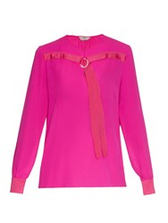 Edun Long Sleeve Silk Chiffon Blouse