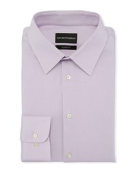 Emporio Armani Modern Fit Solid Stretch Broadcloth Dress Shirt Lavender