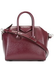 Givenchy Mini Antigona Tote Bag Women Patent Leather One Size Red