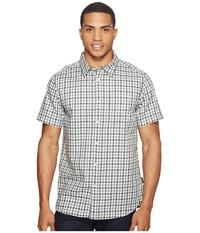 The North Face Short Sleeve Passport Shirt Asphalt Grey Plaid Men's Short Sleeve Button Up Gray