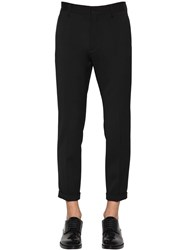 Dsquared Admiral Wool Blend Cady Pants Black
