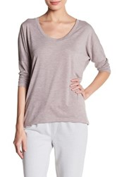 Alternative Apparel Dolman 3 4 Length Sleeve Tee Metallic