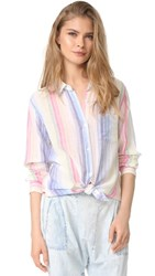 Rails Charli Rainbow Shirt Rainbow Stripe