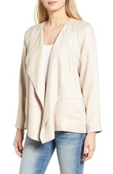 Astr Women's Textured Drape Front Jacket