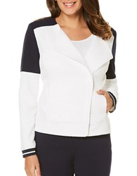 Rafaella Textured Contrast Jacket White