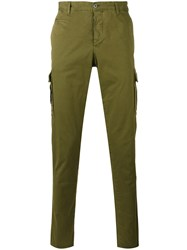 Pt01 Skinny Trousers Green