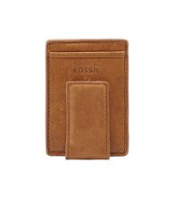 Fossil Magnetic Multi Card Leather Wallet Tan