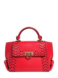 Salvatore Ferragamo Small Sofia Perforated Leather Bag