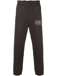 Golden Goose Deluxe Brand Logo Track Trousers Grey