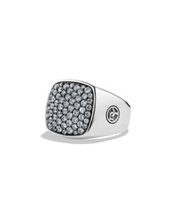 Men's Pave Top Signet Ring David Yurman
