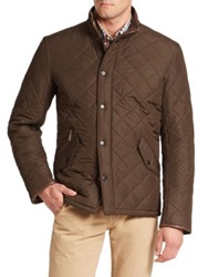 Barbour Powell Chelsea Style Quilted Jacket Brown