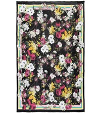 Dolce And Gabbana Floral Printed Silk Scarf Multicoloured