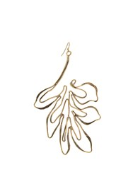 Rosie Assoulin Leaf Drop Earring Gold