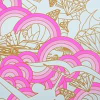 Flavor Paper Luxury Wallpaper Black Blue Pink