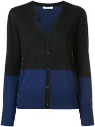 Astraet Contrast Button Up Cardigan Wool Blue