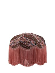 House Of Hackney Mamounia Jacquard Cotton Blend Lampshade Pink Multi