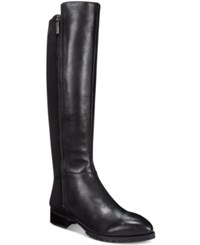 Nine West Legretto 50 50 Stretch Tall Boots Women's Shoes Black Leather