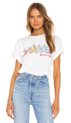 Junk Food Rainbow Bears Tee In White.