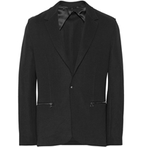 Lanvin Unstructured Tech Jersey Blazer Black