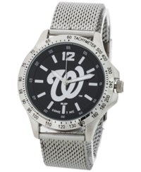 Game Time Washington Nationals Cage Series Watch Silver Black