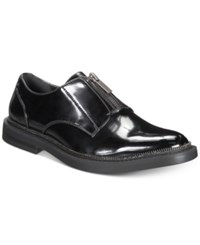 Inc International Concepts I.N.C. Scorpio Zip Up Loafers Created For Macy's Shoes Black