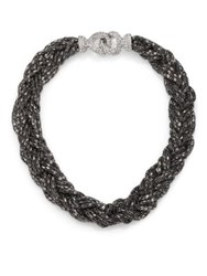 Abs By Allen Schwartz Jewelry Smoke And Mirrors Braided Chain Necklace Silver