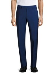 Paul Smith Modern Fit Wool Trousers Blue