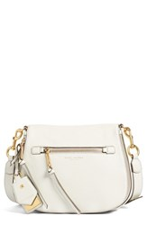 Marc Jacobs Recruit Nomad Pebbled Leather Crossbody Bag Grey