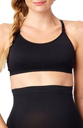 Women's Rosie Pope Seamless Nursing Maternity Sports Bra Black