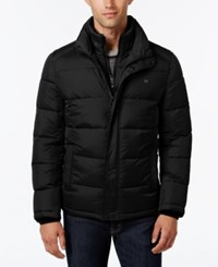 Calvin Klein Men's Big And Tall Classic Quilted Puffer Coat A Macy's Exclusive Style Black