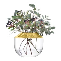Lsa International Space Vase Gold Clear Gold