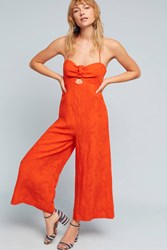 Anthropologie Tropicale Jumpsuit Bright Red