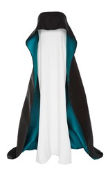 Elizabeth Kennedy Gown With Bi Colored Over Cape Multi