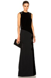 Roland Mouret Malroy Velvet And Crochet Lace Gown In Black