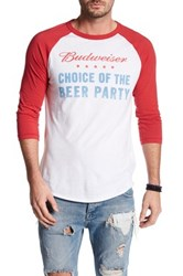 Junk Food Choice Of The Beer Party Baseball Tee White