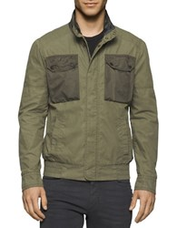 Calvin Klein Jeans Mixed Media Field Jacket Army Green