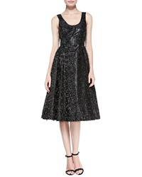 Tracy Reese Sleeveless Beaded And Eyelash Fringe Cocktail Dress