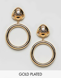 Gogo Philip Philipp Drop Hoop Earrings Gold