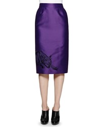 Stella Mccartney Cat Embroidered Pencil Skirt Women's