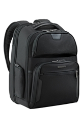 Briggs And Riley 'Large' Ballistic Nylon Clamshell Backpack Black